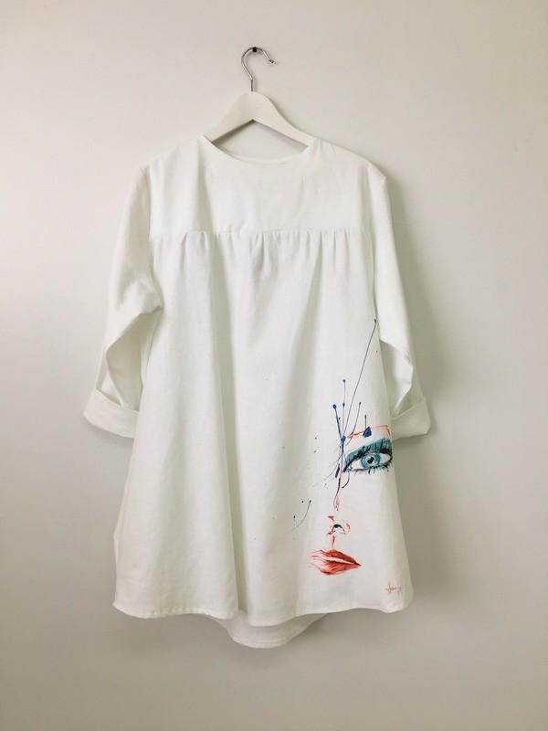 LINEN WHITE DRESS #1