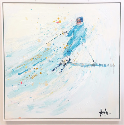 BRIGHT BLUE SKI SUIT (40''X40'')