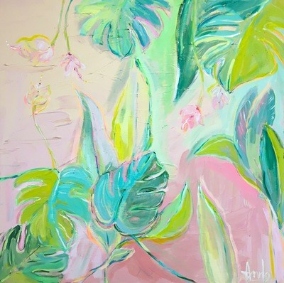 EXOTIC ABSTRACT  (40'X40')*VENDUE*SOLD*