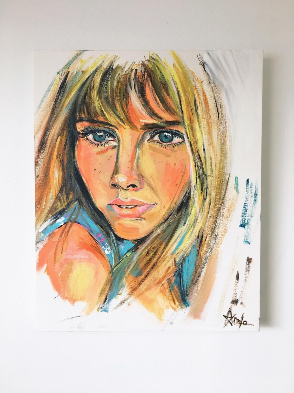 BRITT EKLAND portrait (14''X20'')
