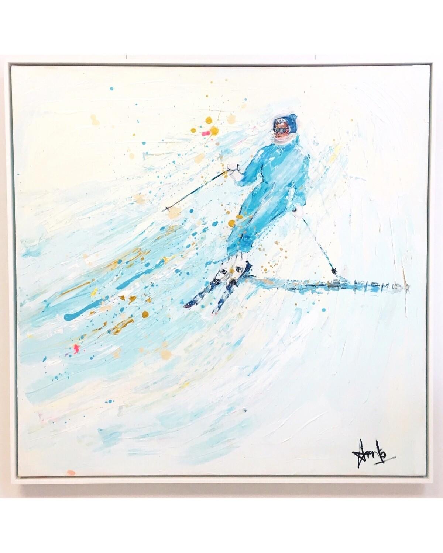 BRIGHT BLUE SKI SUIT (40''x 40'')