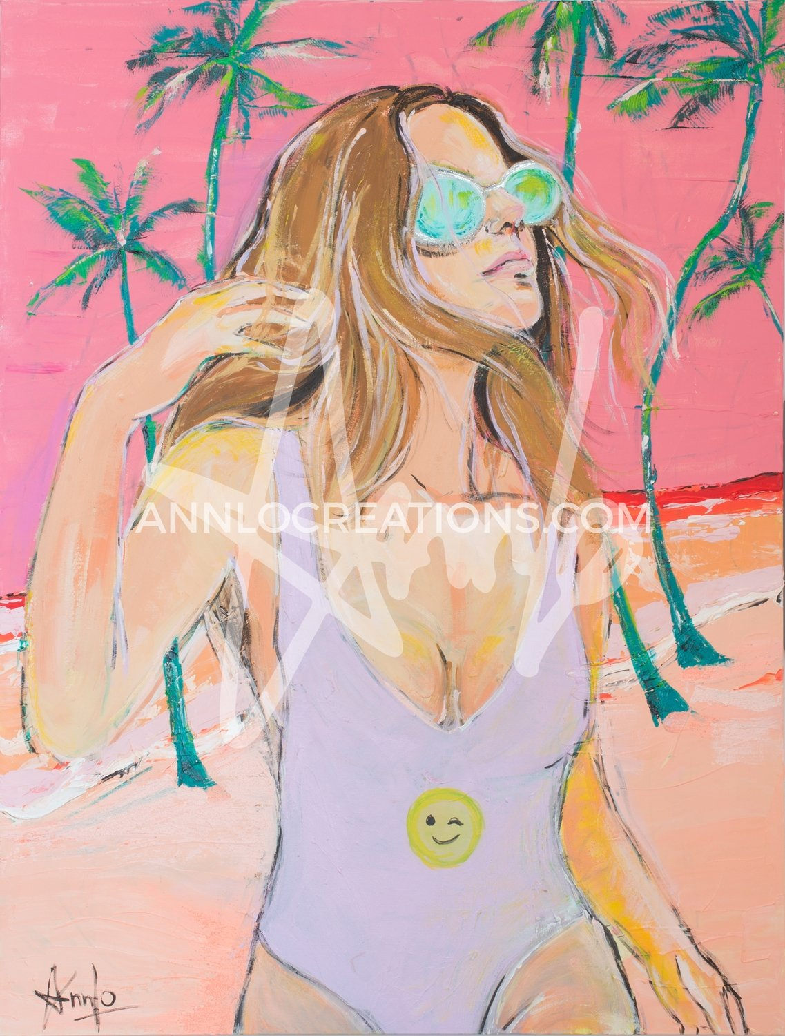 "SMILEY SWIMSUIT (36"" X 48"")"