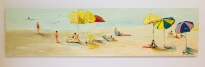 A DAY AT CORONADO BEACH (18''X 72'')*VENDUE*Sold*