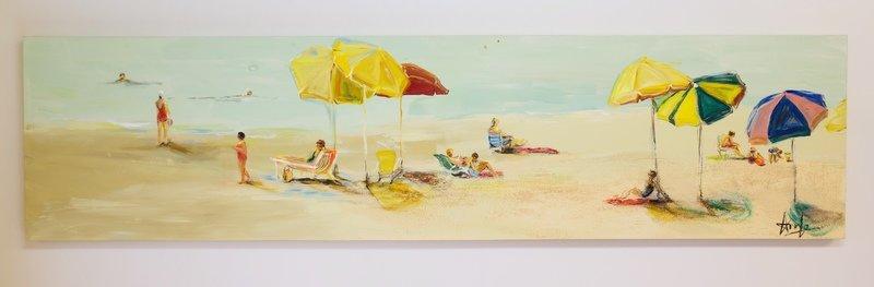 A DAY AT CORONADO BEACH (18''X 72'')*VENDUE*Sold*
