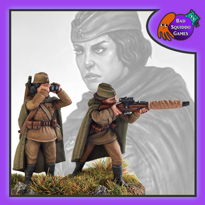 Female Soviet Sniper Team - Standing (2)
