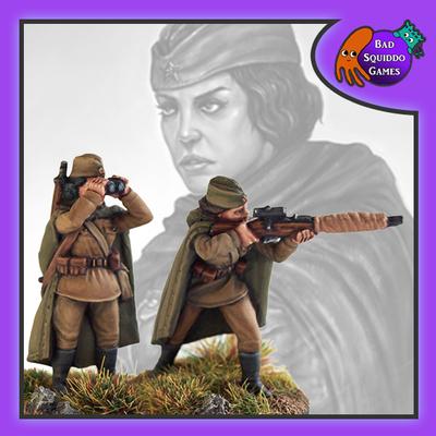 Female Soviet Sniper Team - Standing (2)
