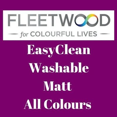 Fleetwood EasyClean Washable Matt All Colours