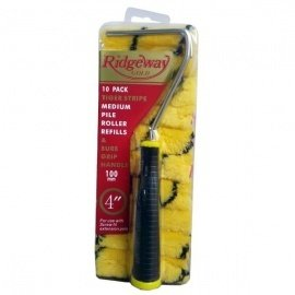 Ridgeway Gold Tiger Stripe Medium Roller Refills & Handle - 10 Pack