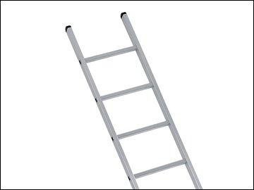ndustrial Single Aluminium Ladder With Stabilser Bar 3.05m 10 Rungs