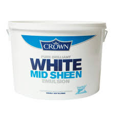 Crown Midsheen Brilliant White Paint