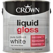 Crown Liquid Gloss Brilliant White Paint