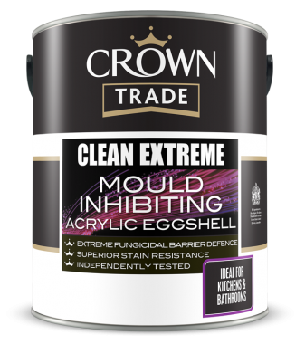 CLEAN EXTREME MOULD INHIBITING ACRYLIC EGGSHELL 5LTR