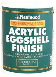 Fleetwood Acrylic Eggshell Finish 10ltr
