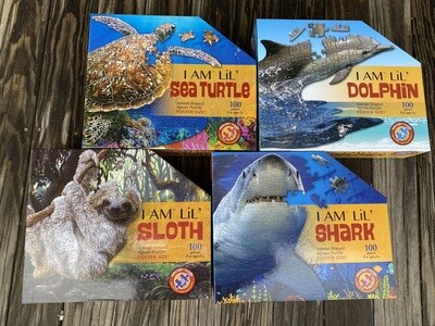 I Am Lil' Shark, Sloth, Sea Turtle, Dolphin
