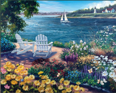 Garden By The Bay 1000 Piece Jigsaw Puzzle