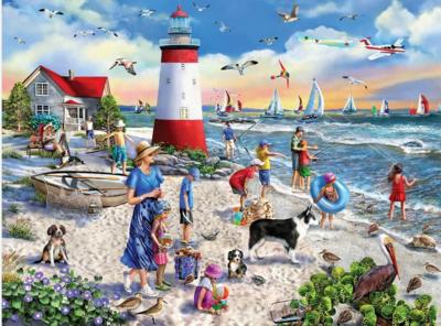 Lighthouse Beach 550 Piece Jigsaw Puzzle