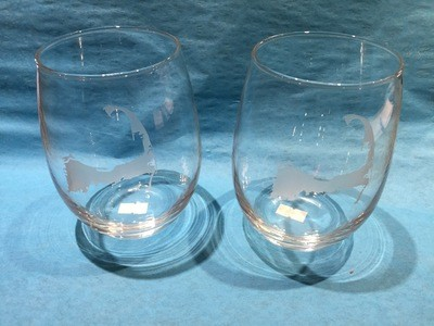 Cape Cod Stemless 21 Oz. Wine Glasses -Set of 4