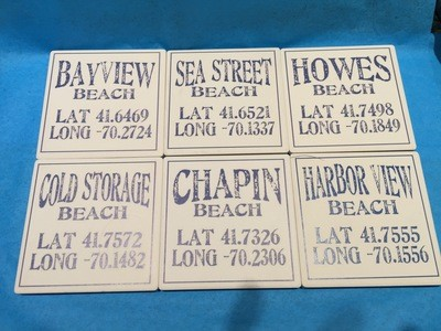 Latitude/ Longitude Coasters -Set of 4