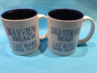 Latitude/ Longitude Mugs -Set of 4