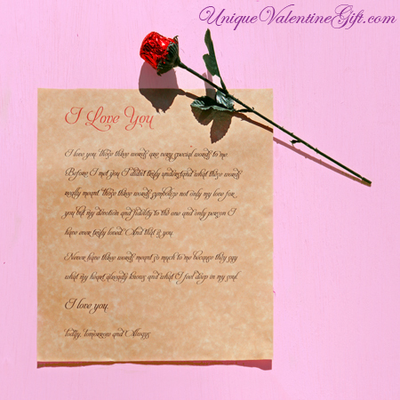 Love Letter & Chocolate Rose