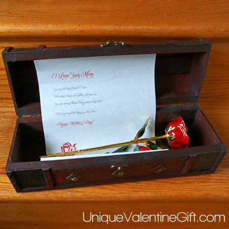24k Gold Rose Mothers Day Chest