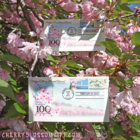 Gifts - Cherry Blossoms - First Day of Issue Envelope and Stamp Set