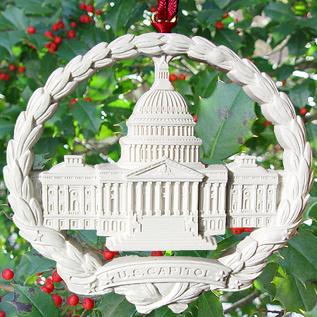Ornaments - US Capitol 1998 Marble Capitol Wreath