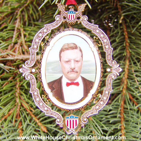 Ornaments - Mount Vernon American Presidents - Theodore Roosevelt