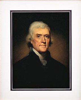Gifts - Print - Thomas Jefferson Framed