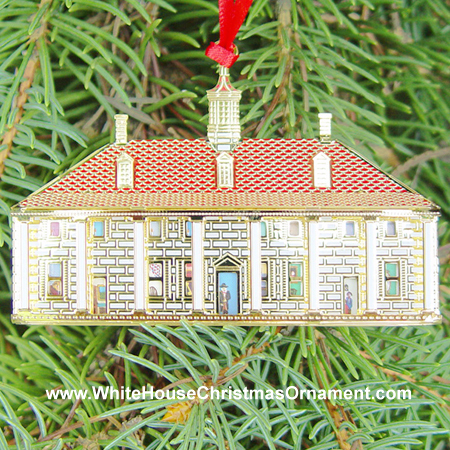 Ornaments - Mount Vernon 1999 East Dollhouse