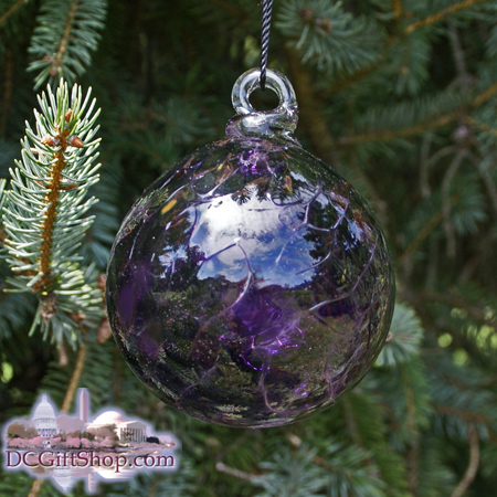 "Ornaments - Glass - Purple Haze Optic 3"" Ball"