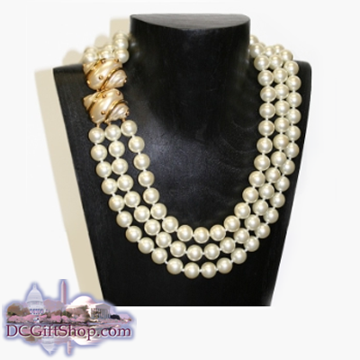 Gifts - Jewelry - Barbara Bush Triple-Strand Pearl Necklace