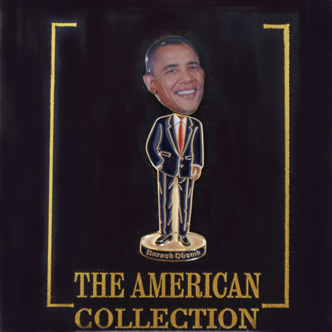 Gifts - 56th Inauguration - Pin - Obama Bobble Head