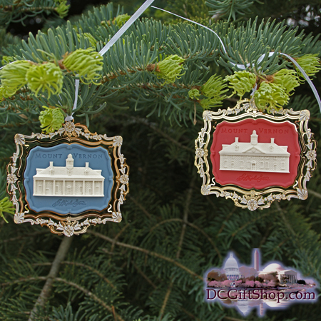 Ornaments - Mount Vernon 2001 Set-of-Two