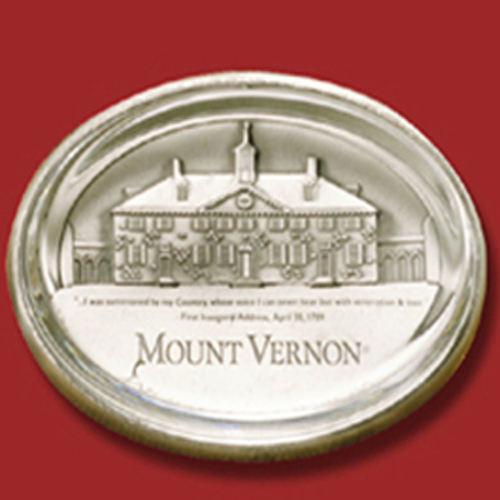 Gifts - Mount Vernon Glass Pewter Paperweight