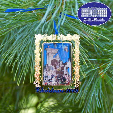 Ornaments - Secret Service 2008 The White House Cr�che