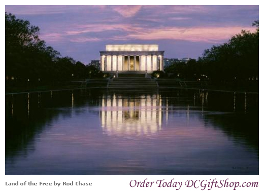 Gifts - Print - Land of the Free Lincoln Memorial