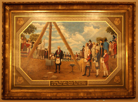Gifts - Print - George Washington Laying the Cornerstone of the United States Capitol, September 18, 1793