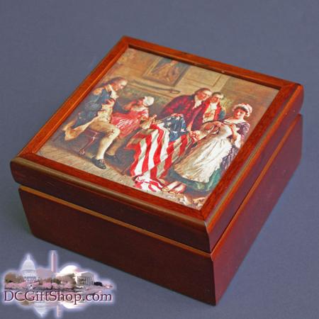 Gifts - Keepsake Box - Betsy Ross American Flag