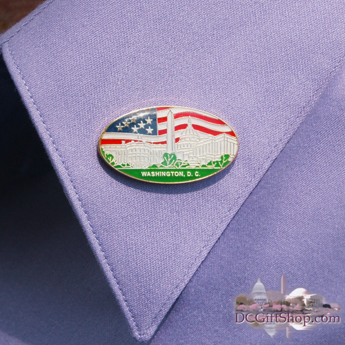 Gifts - Pins - Washington DC Souvenir Pin (OVAL)