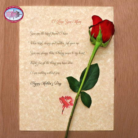 Mother's Day Letter and Rose