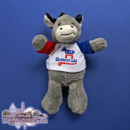 Gifts - Presidential Poll - Democrat Stuffed Toy Donkey
