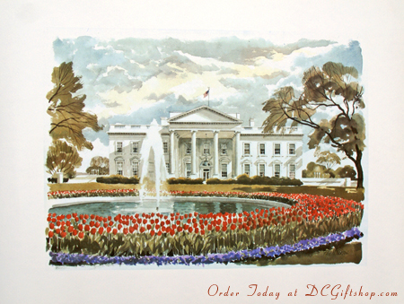 Print - The White House in Springtime