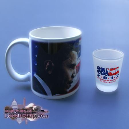 Gifts - Presidential Poll - Obama Coffee Mug and Shot Glass