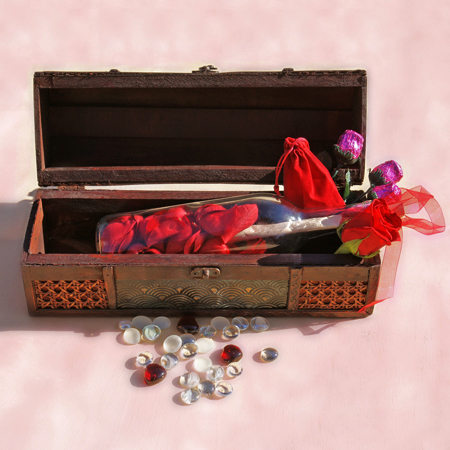 Valentines Day - Hearts and Roses Edition Message in a Bottle