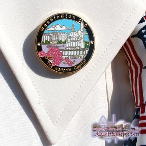 Gifts - Pin - Washington DC w/ Cherry Blossoms