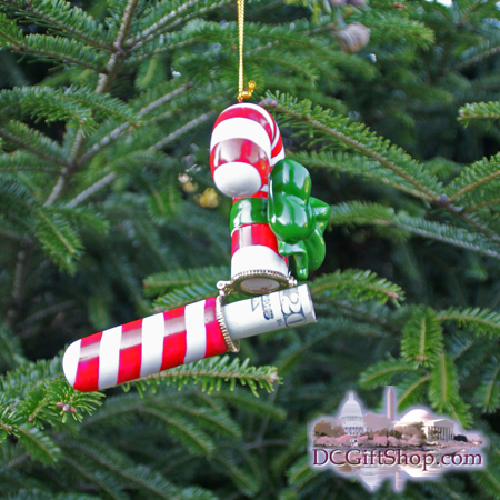 Ornaments - Gift Box - Candy Cane