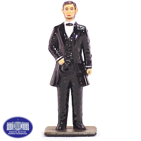 LINCOLN METAL PAINTED FIGURINE