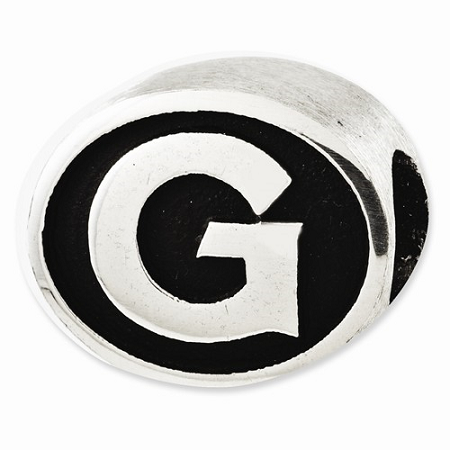 Sterling Silver Antiqued Georgetown University Collegiate Bead