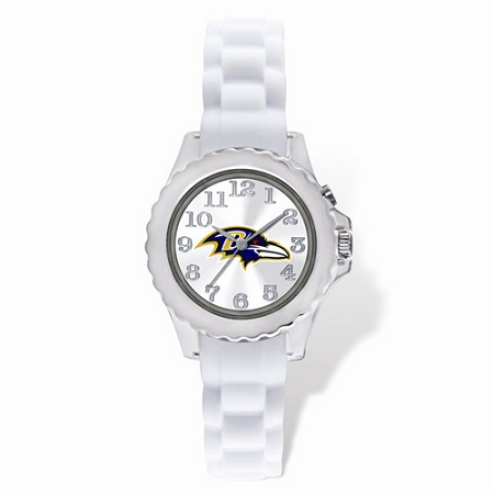 Youth NFL Baltimore Ravens Flash White Strap Watch